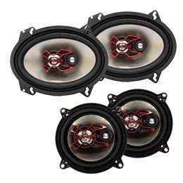 """Kit Alto-falante Bravox B3X68X 6x8"""" + B3X50X 5"""" 200W Rms"""
