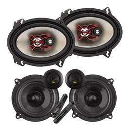 """Kit Alto-falante Bravox Cs50bk 5"""" + B3x68x 6x8"""" 230W Rms"""