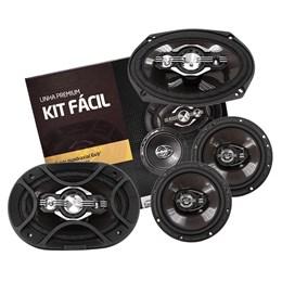 "Kit Fácil Bravox 6x9"" e 6"" 300W RMS Linha Premium"