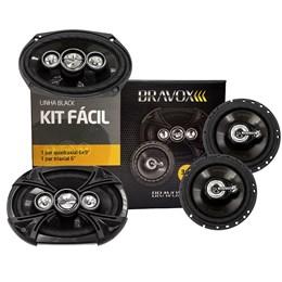 """Kit Fácil Bravox 6x9"""" e 6"""" 380W RMS Linha Black"""