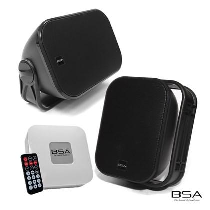 Kit Fácil BSA AW4-B Preta+Amplificador Bluetooth/USB/SD Card by Bravox
