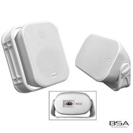 Kit Fácil BSA AW4-W Branca+Amplificador Bluetooth/USB/SD Card by Bravox