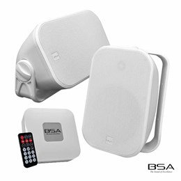Kit Fácil BSA AW6-W Branca+Amplificador Bluetooth/USB/SD Card by Bravox