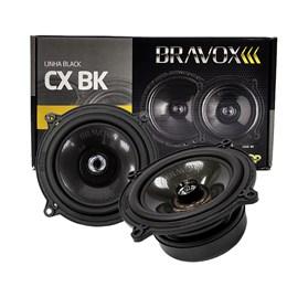 """Par Alto-Falante Coaxial Bravox 5"""" CX50BK 120W RMS"""