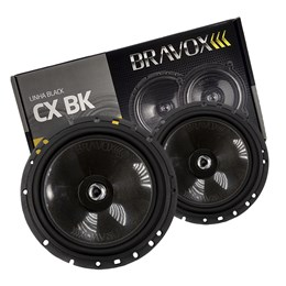 """Par Alto-Falante Coaxial Bravox 6"""" CX60BK 120W RMS"""