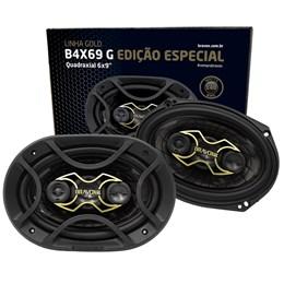 "Par Alto-Falante Quadriaxial 6X9"" B4X69 Gold 140W RMS | BRAVOX"