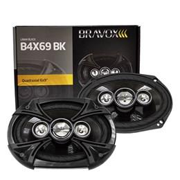 "Par Alto-Falante Quadriaxial 6x9"" Bravox B4X69BK 220W RMS"