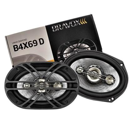 "Par Alto-Falante Quadriaxial 6x9"" Bravox B4X69D 300W RMS"