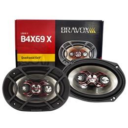"Par Alto-Falante Quadriaxial 6x9"" Bravox B4X69X 140W RMS"