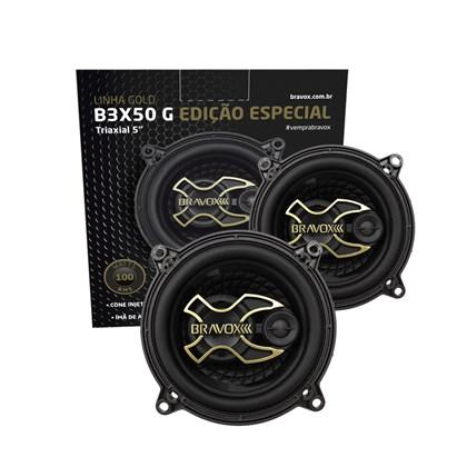 """Par Alto-Falante Triaxial Bravox 5"""" B3X50 Gold 100W RMS"""