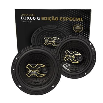 """Par Alto-Falante Triaxial Bravox 6"""" B3X60 Gold 100W RMS"""