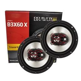 """Par Alto-Falante Triaxial Bravox 6"""" B3X60X 100W RMS"""